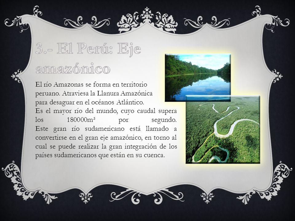 El río Amazonas se forma en territorio peruano.