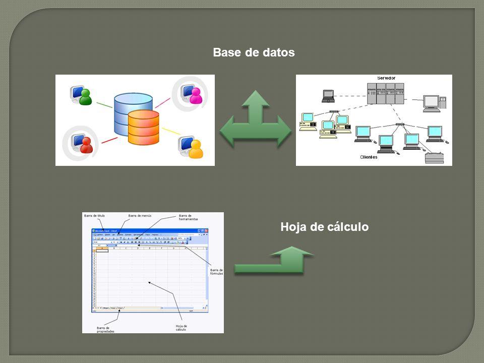 Base de datos Hoja de cálculo
