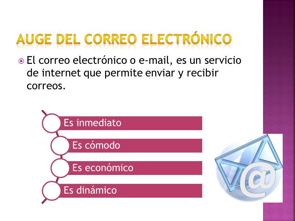 El correo electrónico o e-mail, es un servicio de internet que permite enviar y recibir correos.