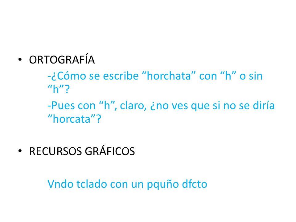 ORTOGRAFÍA -¿Cómo se escribe horchata con h o sin h.