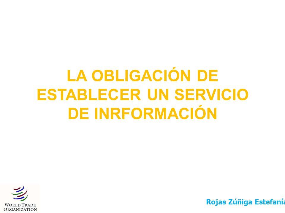LA OBLIGACIÓN DE ESTABLECER UN SERVICIO DE INRFORMACIÓN Rojas Zúñiga Estefanía