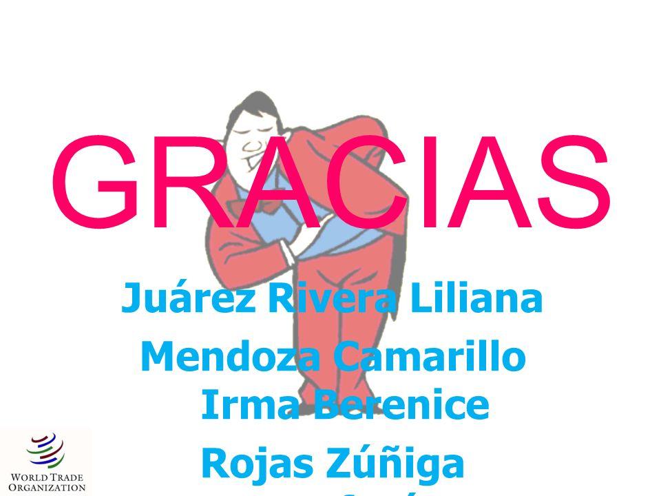 GRACIAS Juárez Rivera Liliana Mendoza Camarillo Irma Berenice Rojas Zúñiga Estefanía