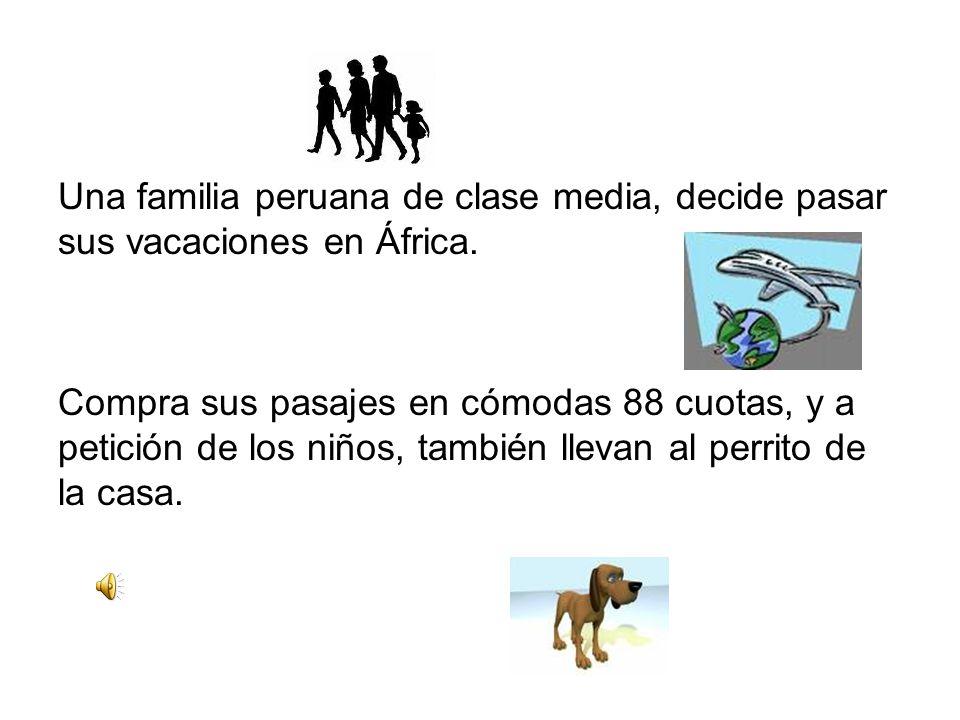 Una familia peruana de clase media, decide pasar sus vacaciones en África.