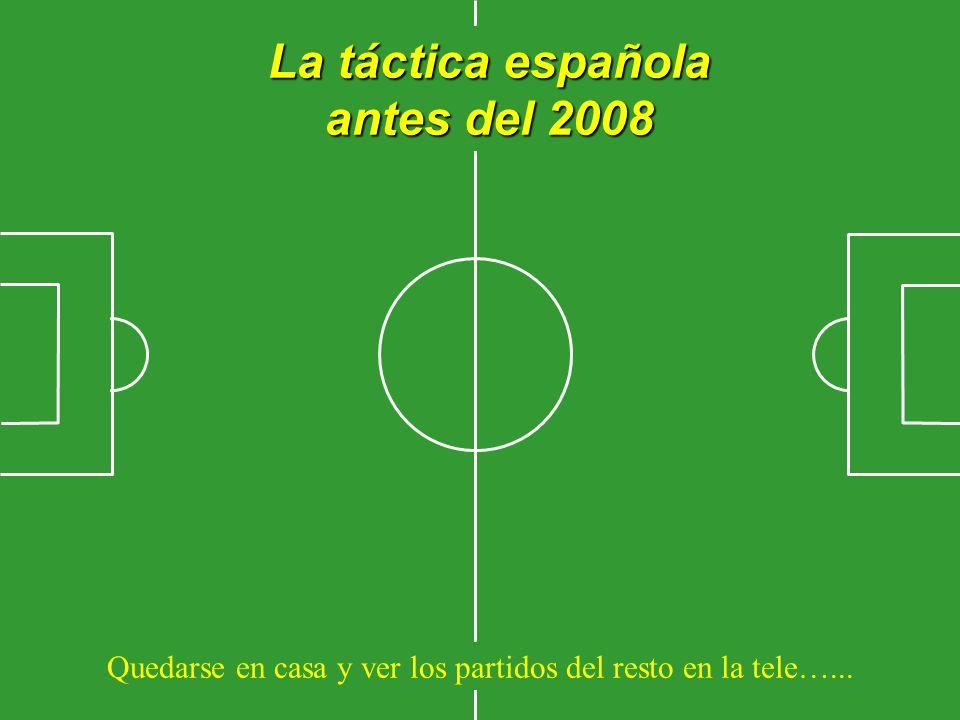 La táctica española antes del 2008 Quedarse en casa y ver los partidos del resto en la tele…...