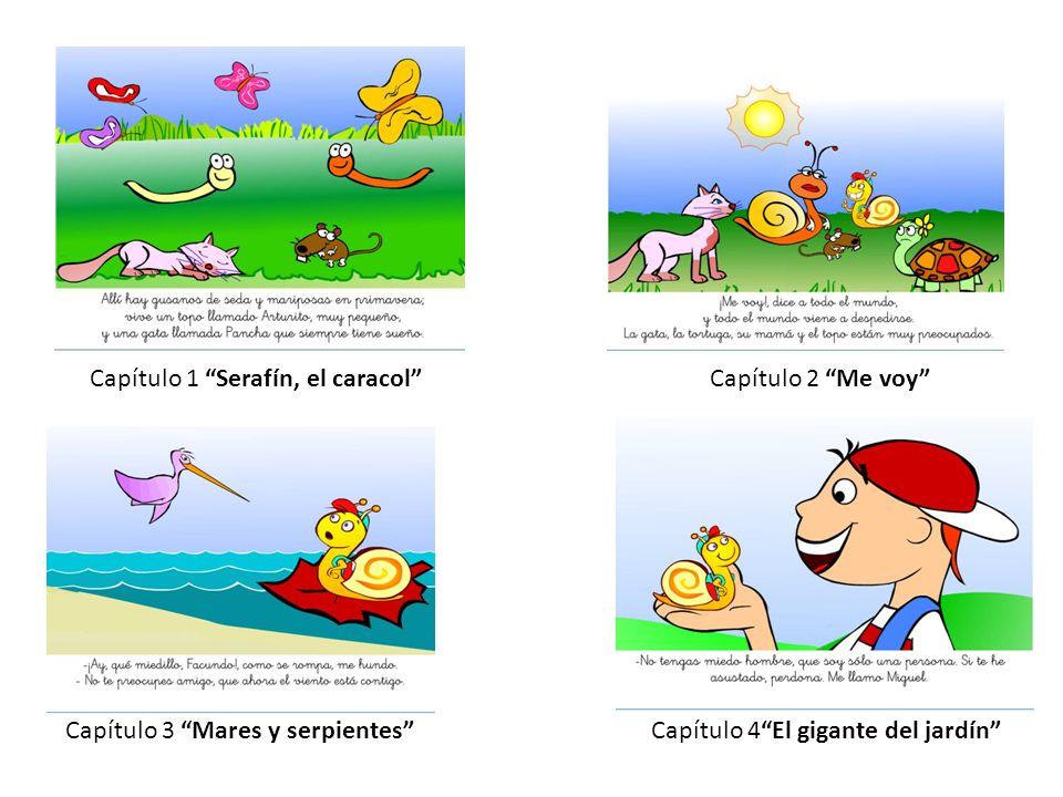 Capítulo 1 Serafín, el caracolCapítulo 2 Me voy Capítulo 3 Mares y serpientesCapítulo 4El gigante del jardín