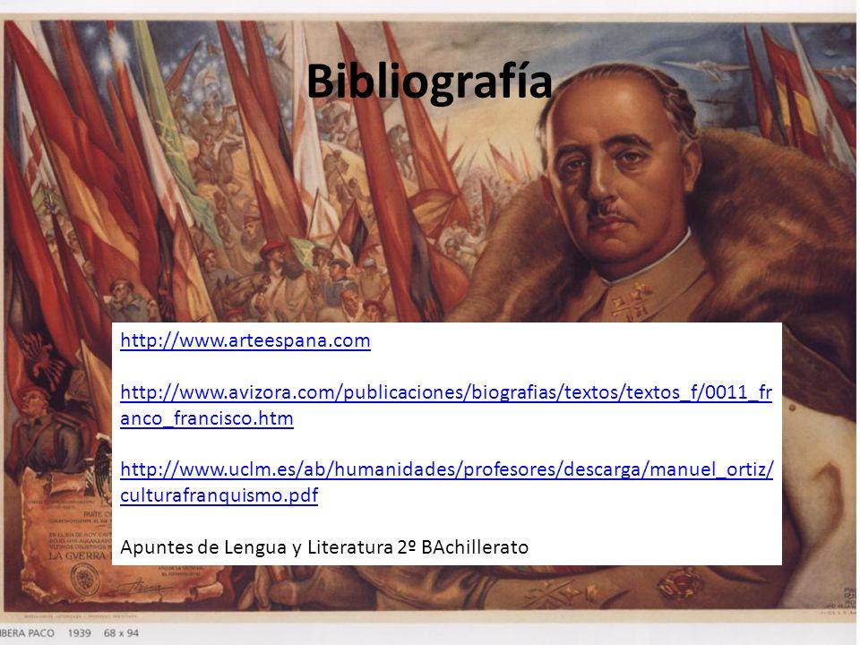 Bibliografía http://www.arteespana.com http://www.avizora.com/publicaciones/biografias/textos/textos_f/0011_fr anco_francisco.htm http://www.uclm.es/a