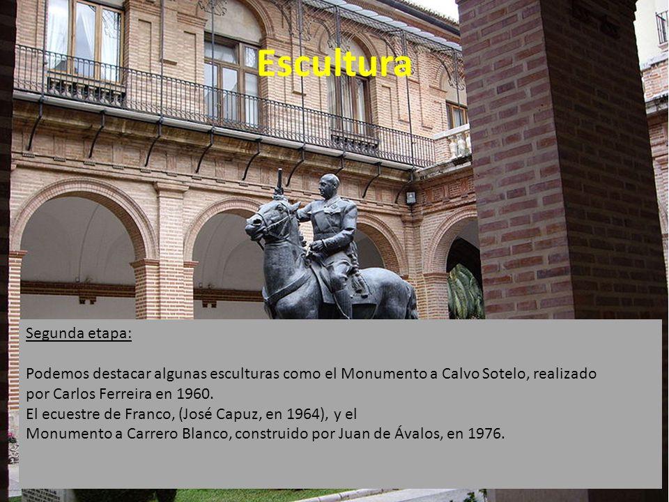 Escultura Primera etapa: El comienzo de la primera etapa, esta marcado por la muerte de Mariano Benlliure, uno de los mayores escultores del momento.