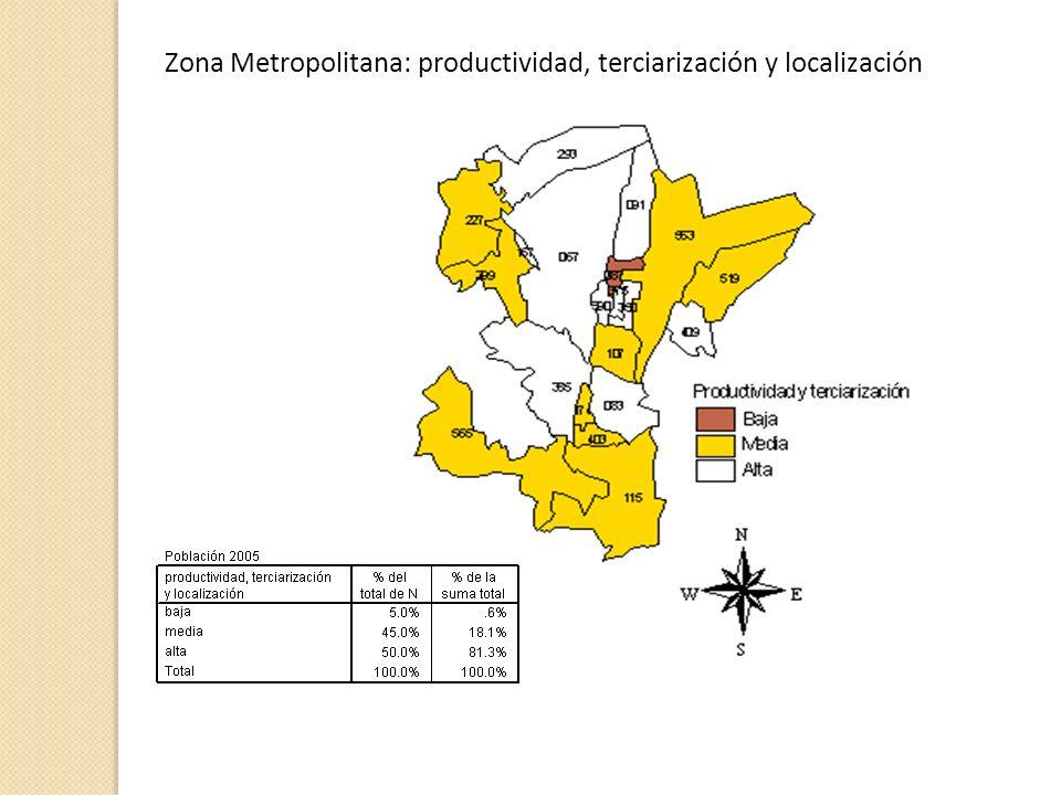 Zona Metropolitana: productividad, terciarización y localización