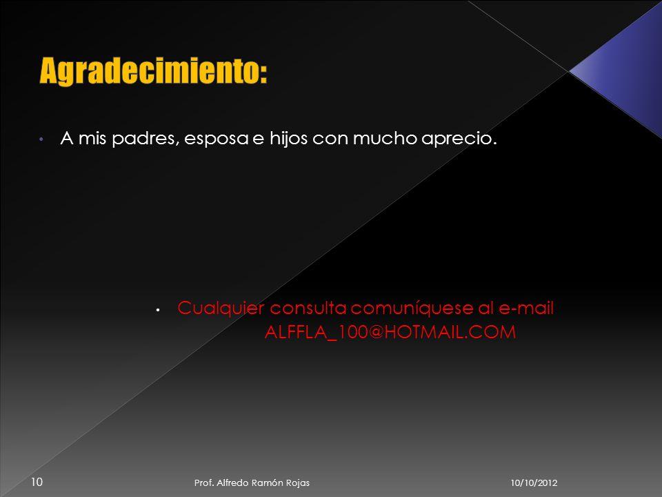 10/10/2012 9 Prof. Alfredo Ramón Rojas http://www.buenastareas.com/ensayos/Ventajas-y- Desventajas-Del-Uso-Del/2456805.html http://opinemossobretecnol