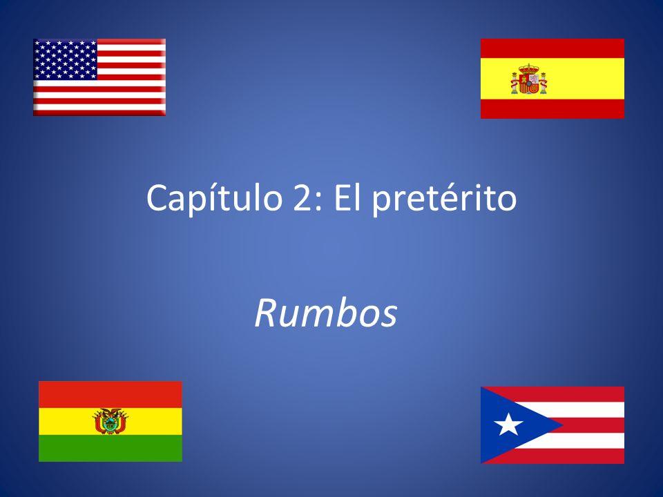Los usos del pretérito 1.To represent actions or events as completed in the past Gloria y Esteban se casaron en 1975.