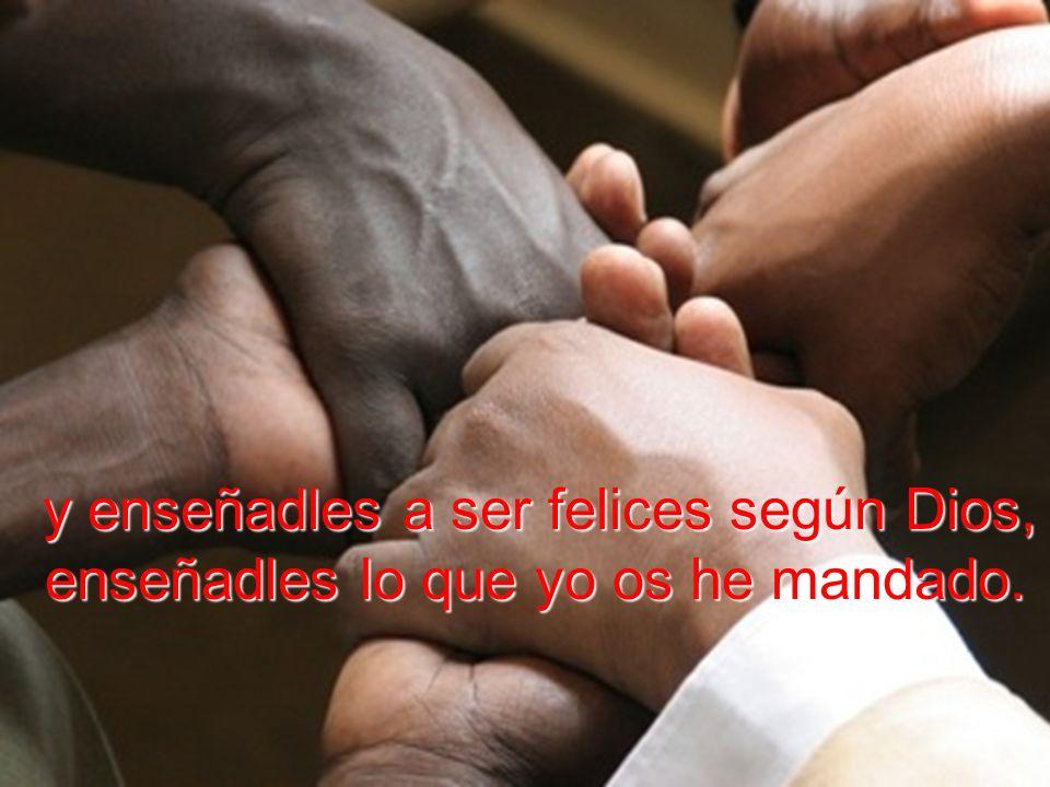 adentrad a todos en el hogar trinitario, bautizadlos en el nombre del Padre y del Hijo y del Espíritu Santo,