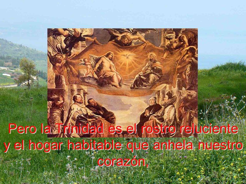 Pero la Trinidad es el rostro reluciente y el hogar habitable que anhela nuestro corazón,