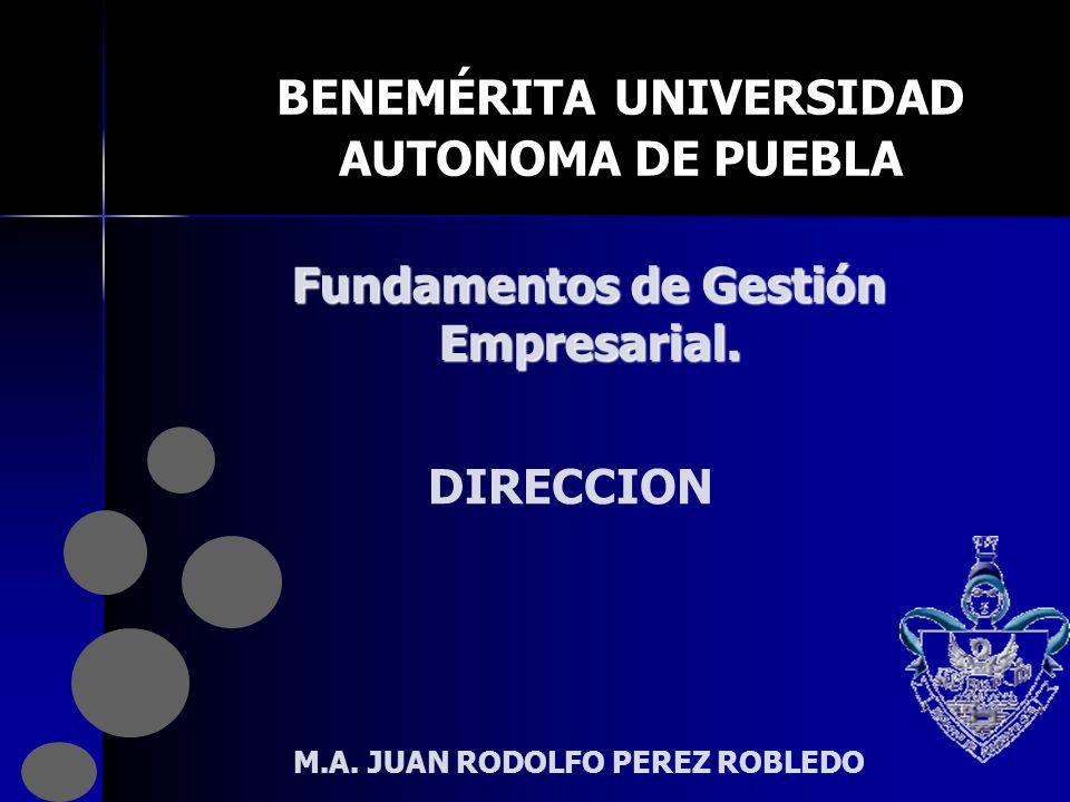 BENEMÉRITA UNIVERSIDAD AUTONOMA DE PUEBLA Fundamentos de Gestión Empresarial.