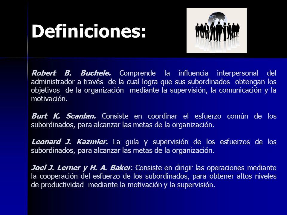 Definiciones: Robert B.Buchele.