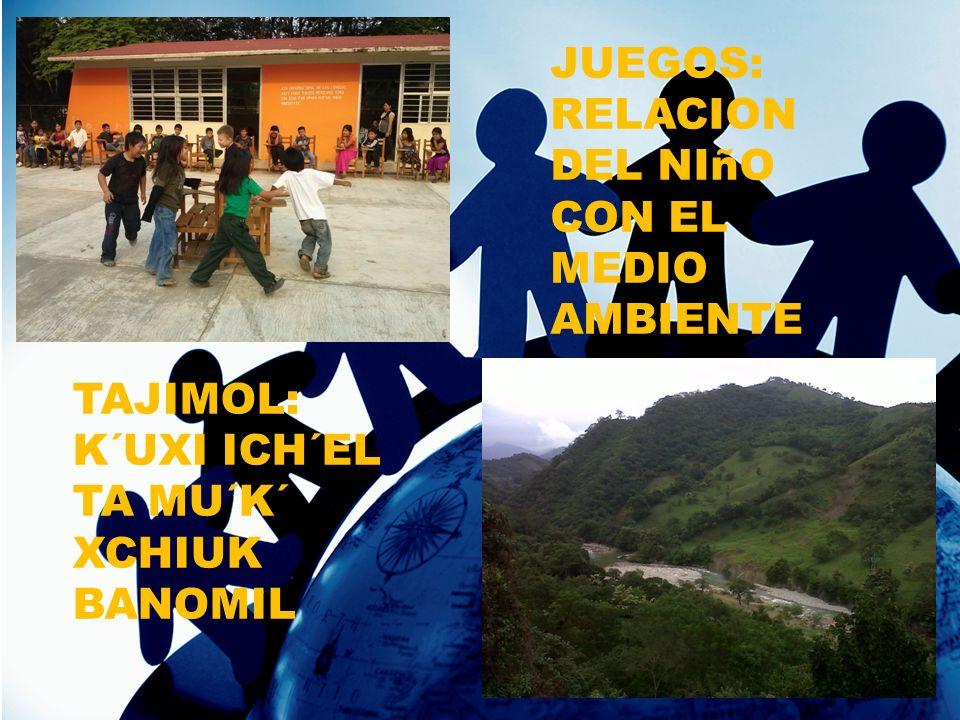 JUEGOS: RELACION DEL NIñO CON EL MEDIO AMBIENTE TAJIMOL: K´UXI ICH´EL TA MU´K´ XCHIUK BANOMIL
