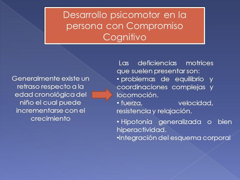 Las deficiencias motrices que suelen presentar son: problemas de equilibrio y coordinaciones complejas y locomoción.