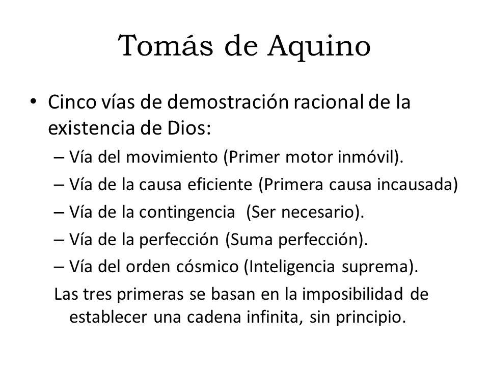 Tomás de Aquino Introduce el pensamiento aristotélico en la teología cristiana. Es probablemente el autor que realiza una mayor síntesis del conocimie