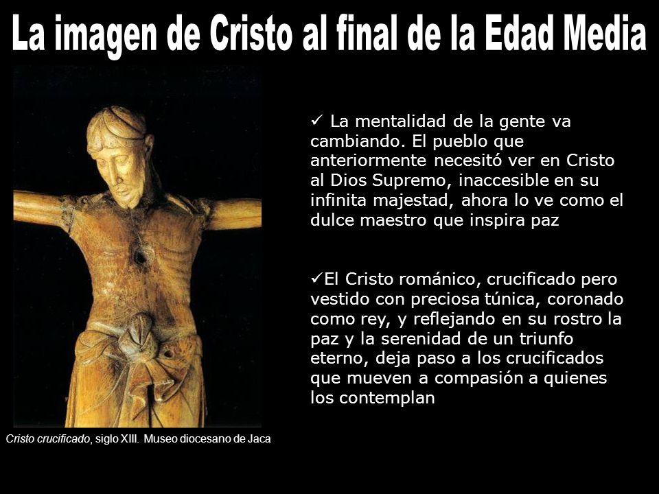 La imagen de Jesucristo sufre el impacto propio del Renacimiento.