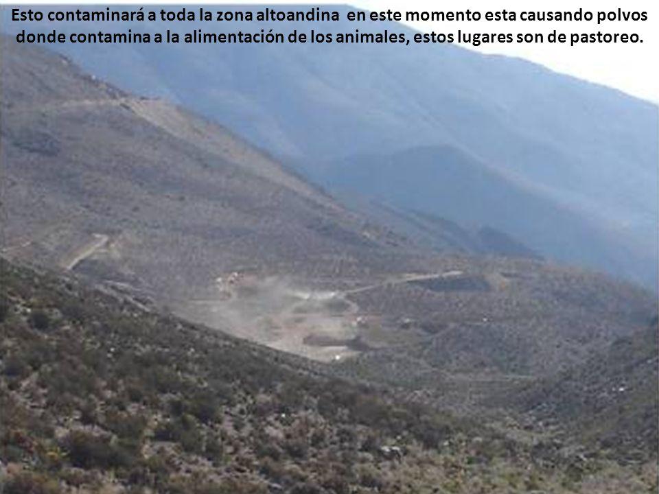 Este lugar esta ubicada antes 8 curvas, aparte de estar instalado en el hito 52 Perú Chile También van estar en este lugar 8 curvas, aquí va estar el gran campamento de la EMPRESA MINERA MINSUR.