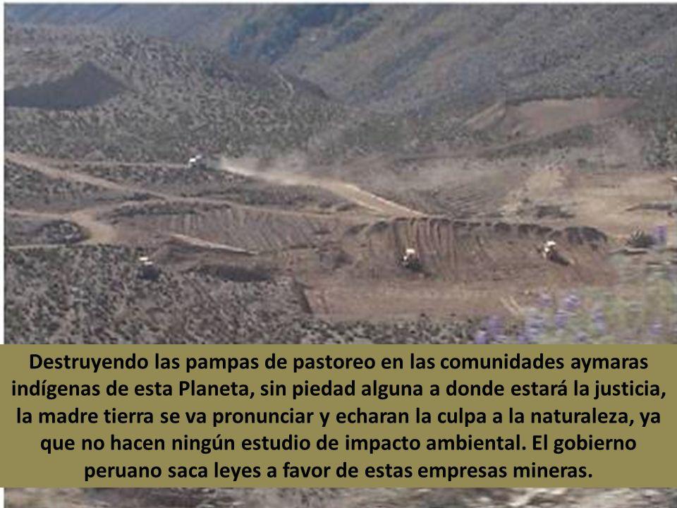 Se fijan… se hará un tajo abierto, estos no tienen ninguna autorización de los lugareños El Alcalde de Palca es pro minero, fue suficiente de recibir