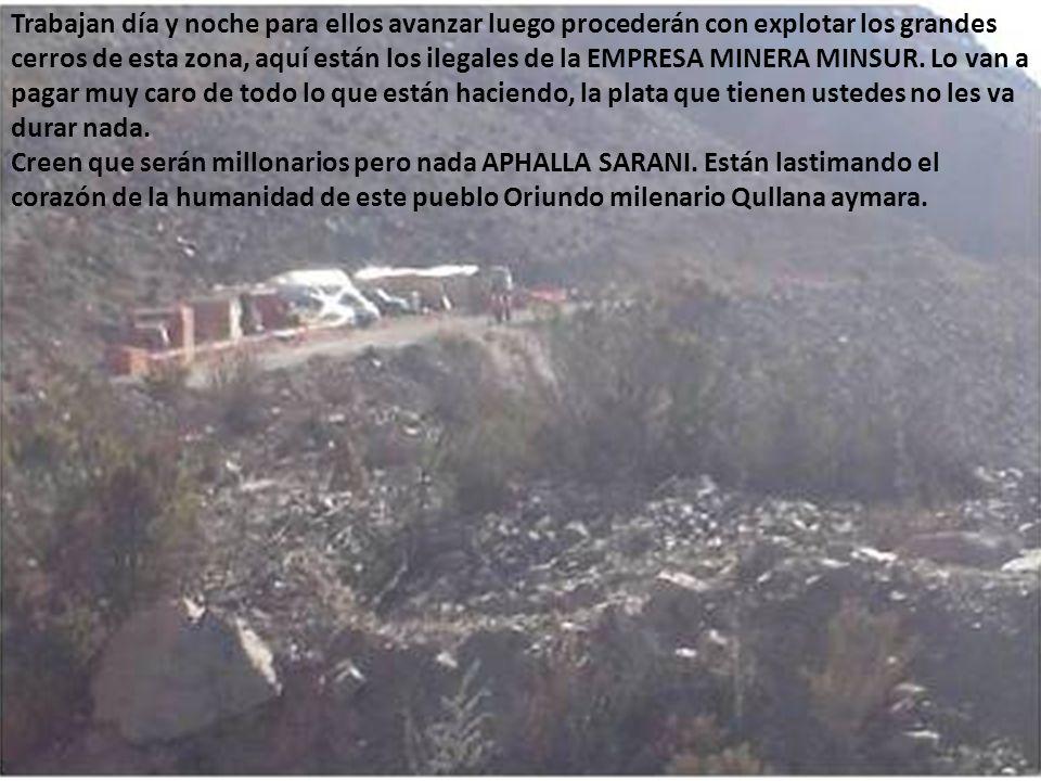 Destruyendo las pampas de pastoreo en las comunidades aymaras indígenas de esta Planeta, sin piedad alguna a donde estará la justicia, la madre tierra