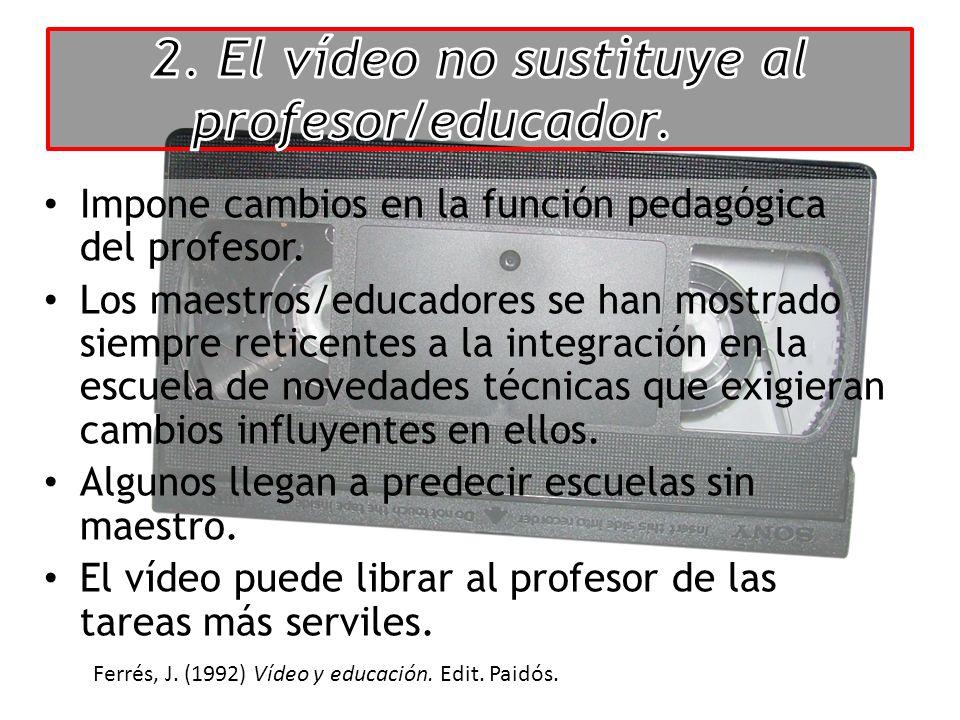 Impone cambios en la función pedagógica del profesor.