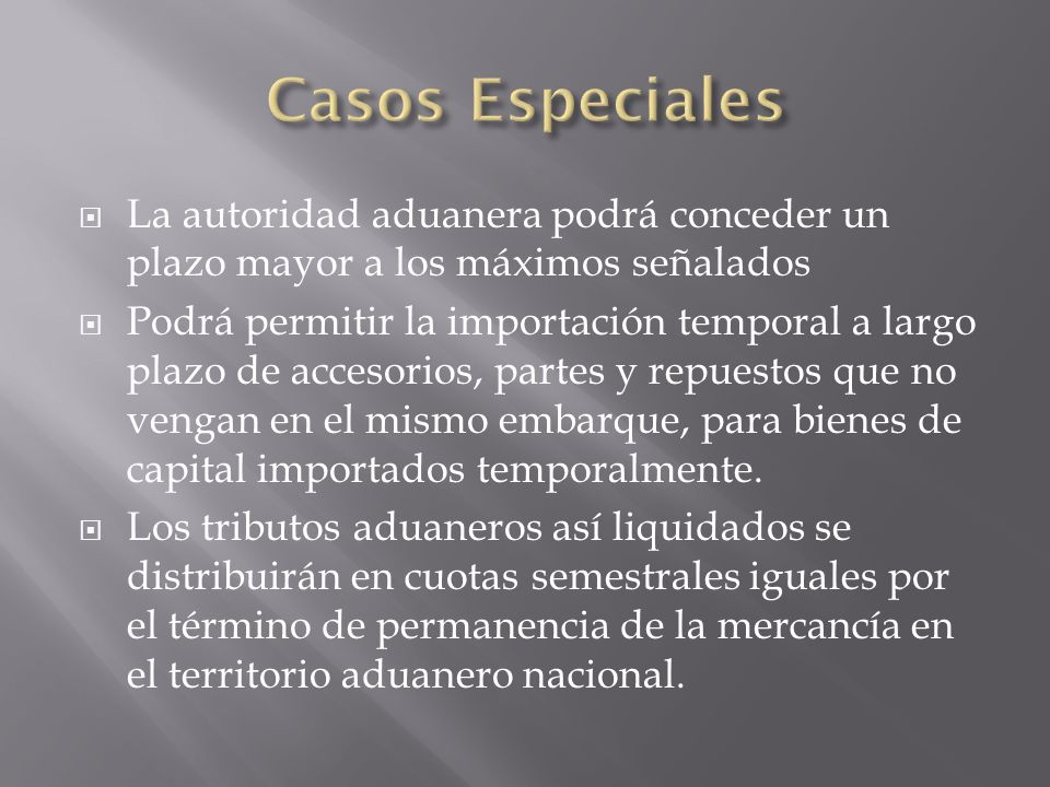 Las cuotas se pagarán por semestres vencidos, para lo cual se convertirán a pesos colombianos Los bienes deberán ser utilizados o destinados al fin para el cual fueron importados.