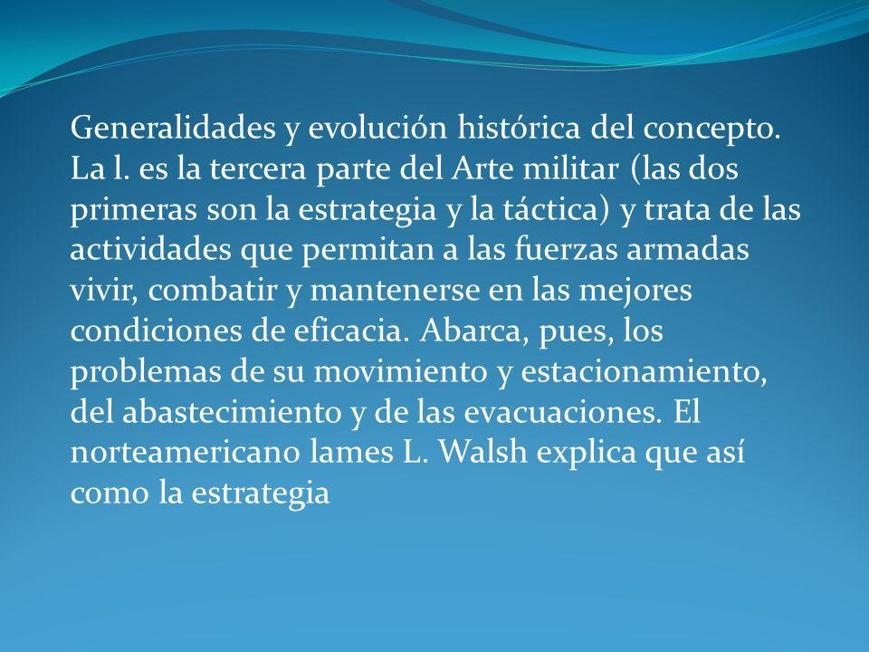 Generalidades y evolución histórica del concepto. La l.