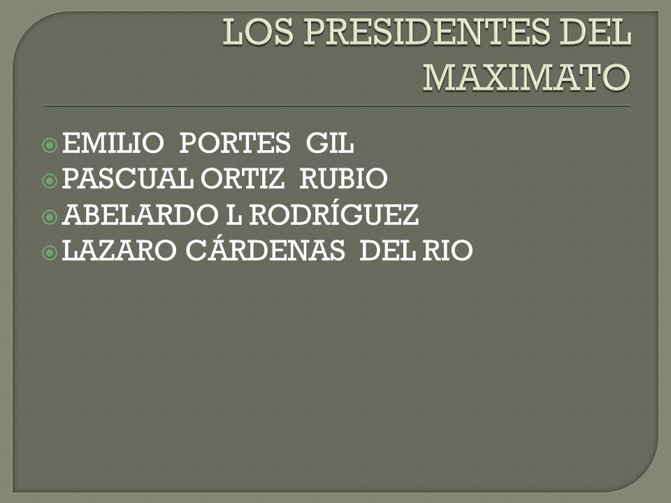 Partido Nacional Revolucionario (PNR) Nació en 1929 durante la presidencia de Emilio Portes Gil Con su aparición, el PNR logró aglutinar a prácticamente todas las fuerzas políticas del país.