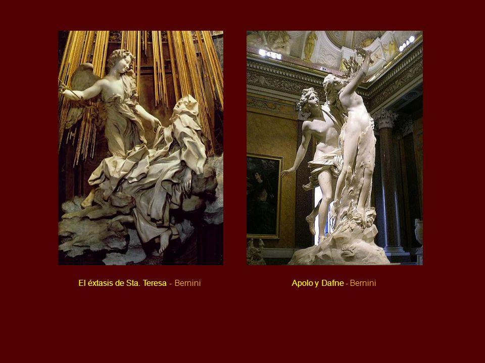 Escultura Características: Se palpa un deseo de movimiento, al igual que en arquitectura. A diferencia de los manieristas cuyo movimiento se contenía