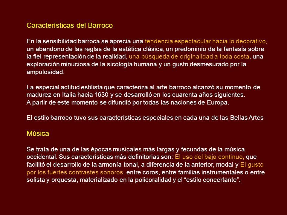 Contexto Histórico El Barroco fue un periodo de la historia en la cultura occidental que produjo obras en el campo de la literatura, la escultura, la