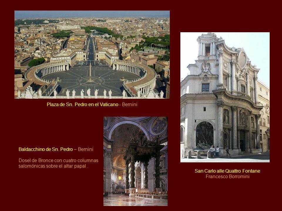 Arquitectura La arquitectura se caracteriza por el rompimiento de los frontones; se encurvan los entablamentos; hay una utilización de las columnas sa