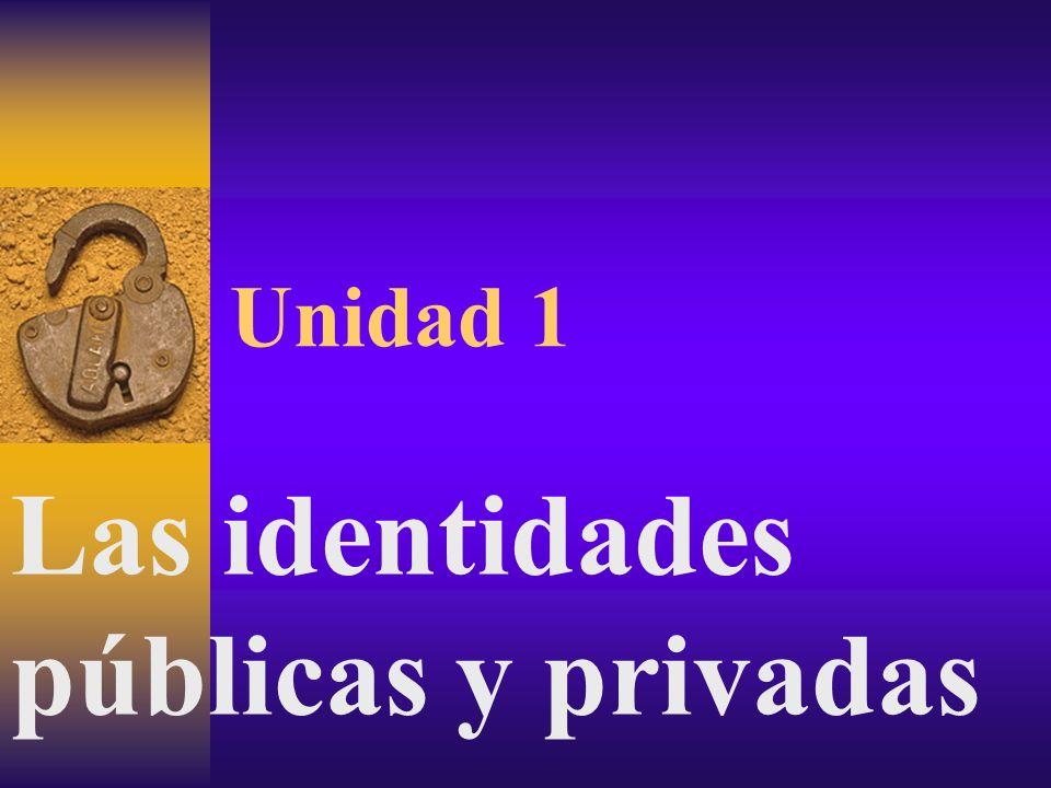Unidad 1 Las identidades públicas y privadas