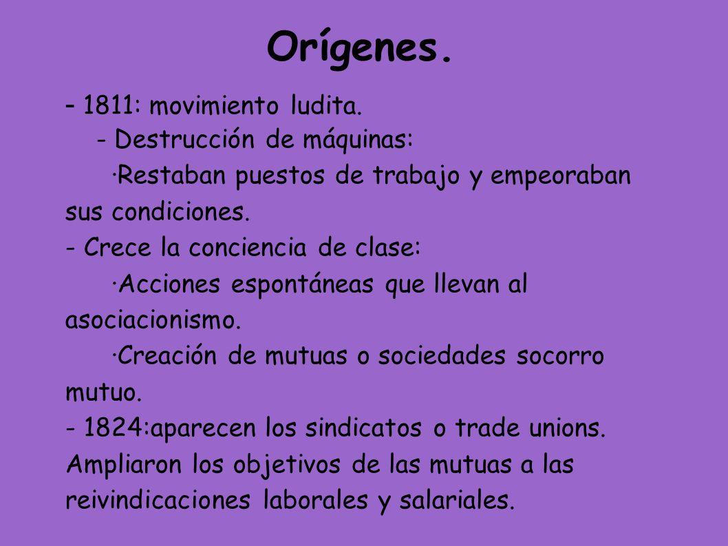 Orígenes.- 1811: movimiento ludita.