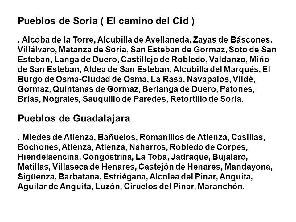 Pueblos de Soria ( El camino del Cid ). Alcoba de la Torre, Alcubilla de Avellaneda, Zayas de Báscones, Villálvaro, Matanza de Soria, San Esteban de G