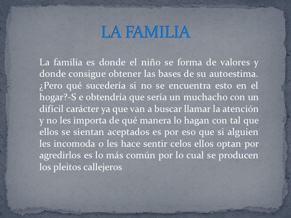 La familia es donde el niño se forma de valores y donde consigue obtener las bases de su autoestima. ¿Pero qué sucedería si no se encuentra esto en el