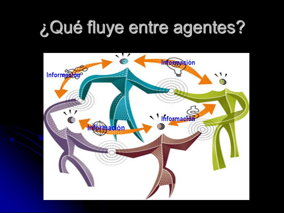 ¿Qué fluye entre agentes? Información