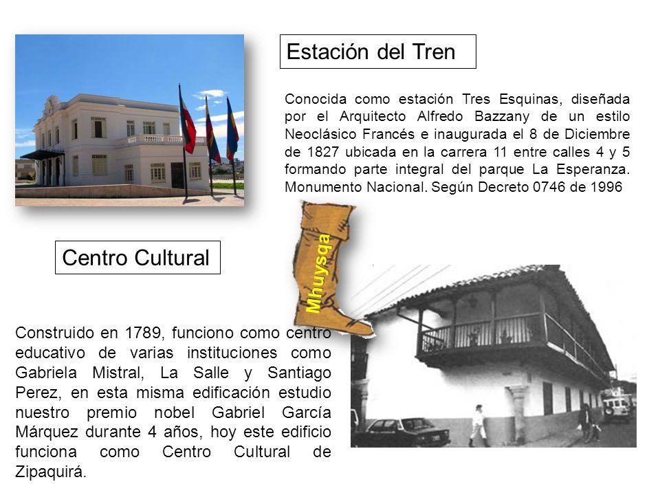Conocida como estación Tres Esquinas, diseñada por el Arquitecto Alfredo Bazzany de un estilo Neoclásico Francés e inaugurada el 8 de Diciembre de 182