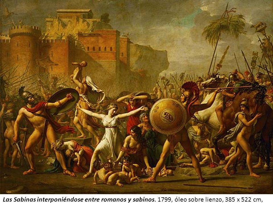 Las Sabinas interponiéndose entre romanos y sabinos. 1799, óleo sobre lienzo, 385 x 522 cm,