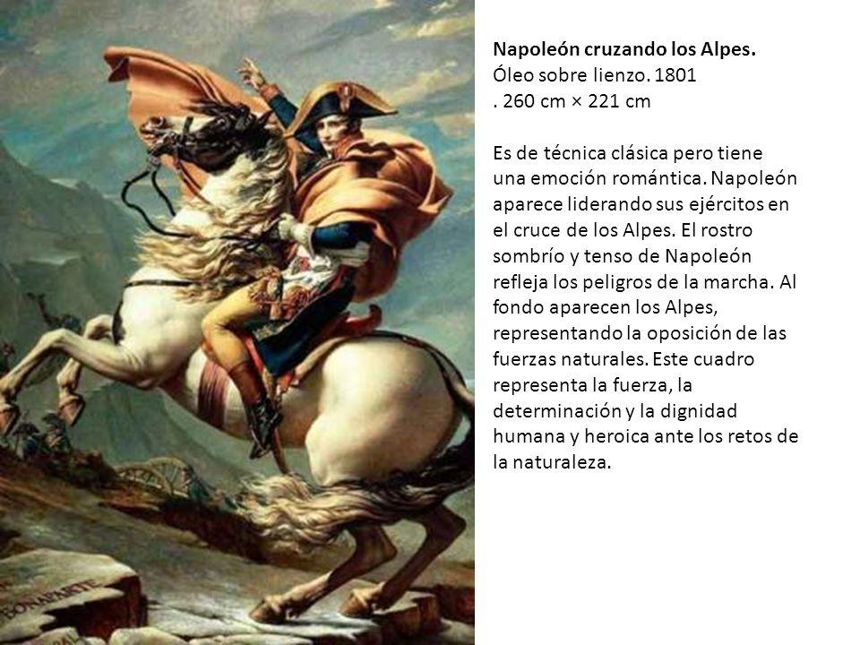 Napoleón cruzando los Alpes.Óleo sobre lienzo. 1801.