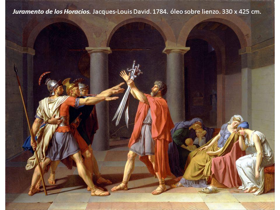 Juramento de los Horacios. Jacques-Louis David. 1784. óleo sobre lienzo. 330 x 425 cm.