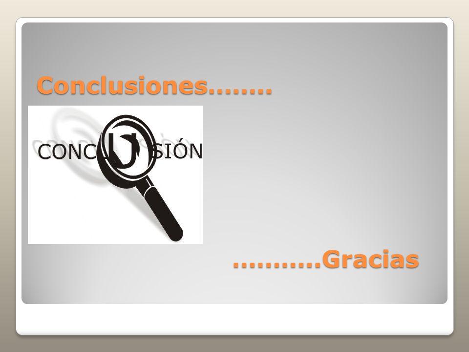 Conclusiones…….. ………..Gracias