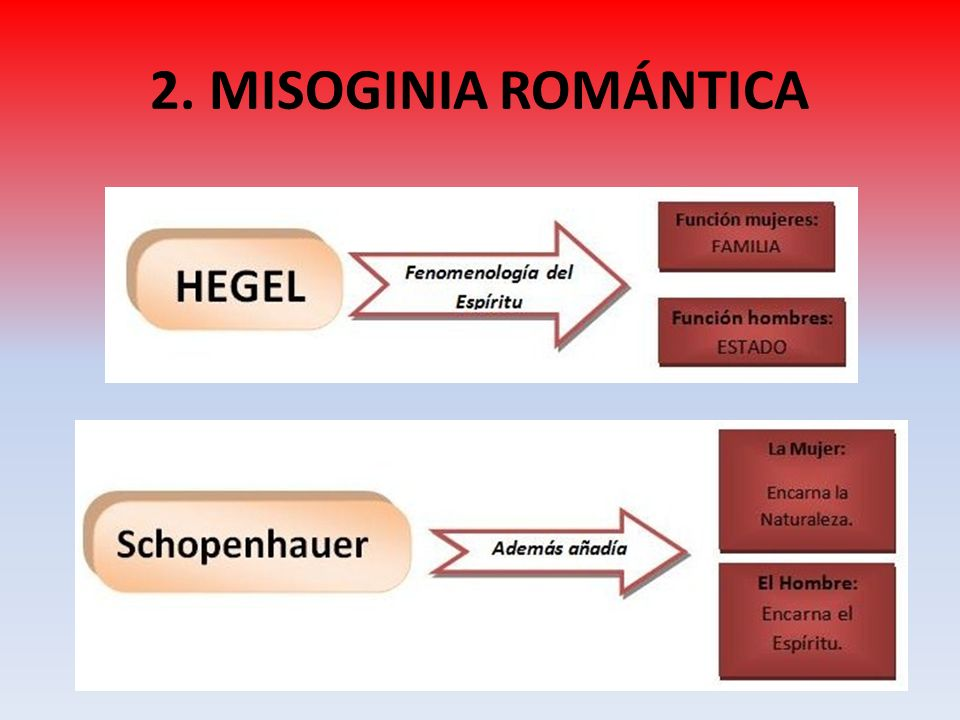 2. MISOGINIA ROMÁNTICA