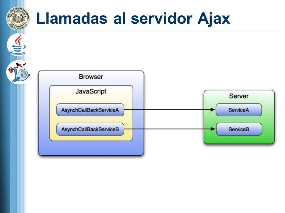 Llamadas al servidor Ajax