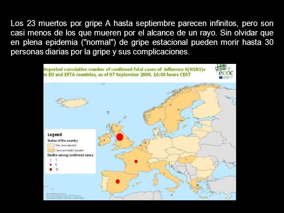 En el invierno austral (que coincide con el verano en España), en la Argentina han muerto unas 350 personas, en Chile 128 y en Nueva Zelanda 16 personas.
