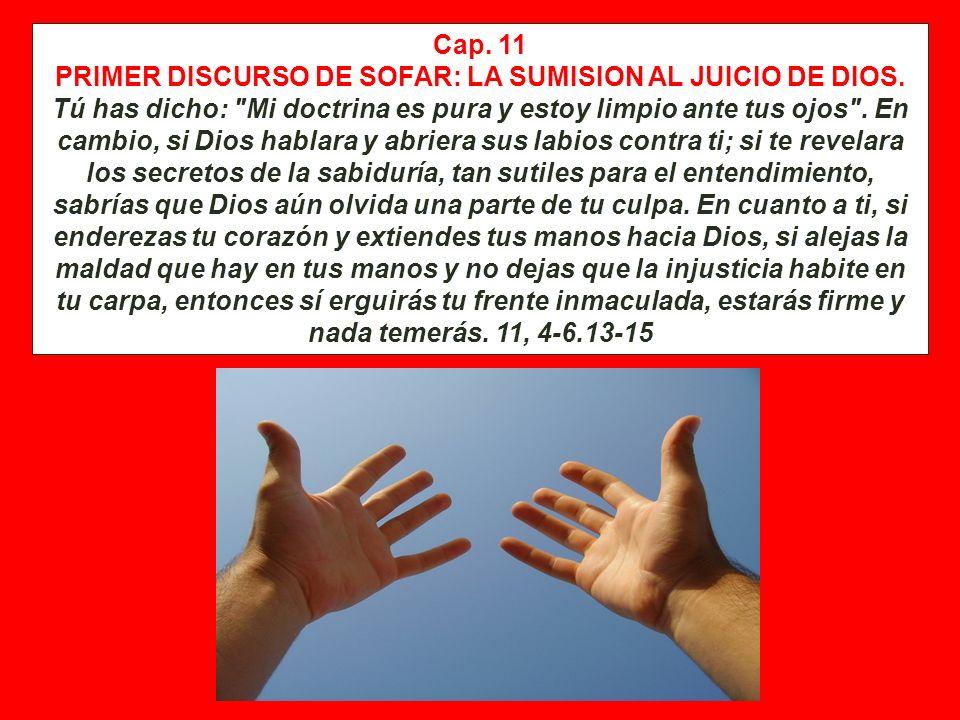 Cap. 9 y 10 RESPUESTA DE JOB AL DISCURSO DE BILDAD: LA FUERZA IRRESISTIBLE DE DIOS Aunque lo llamara y él me respondiera, no creo que llegue a escucha