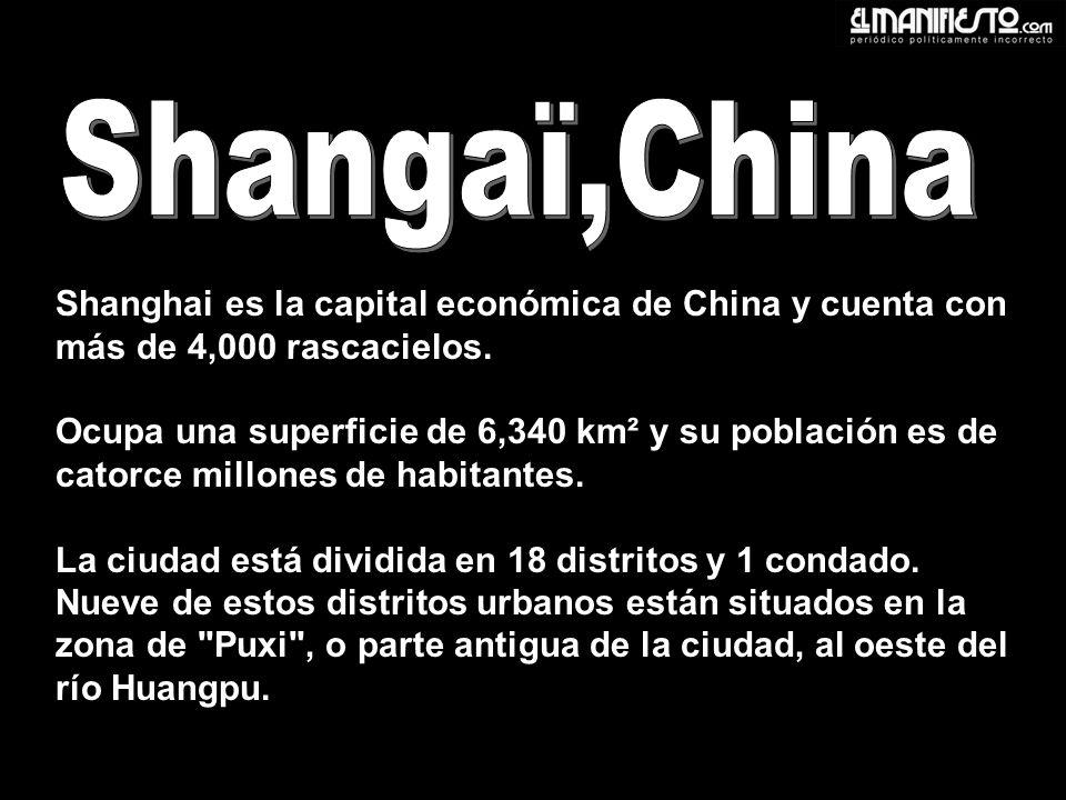 Shanghai es la capital económica de China y cuenta con más de 4,000 rascacielos.