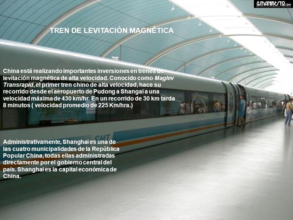 China está realizando importantes inversiones en trenes de levitación magnética de alta velocidad.