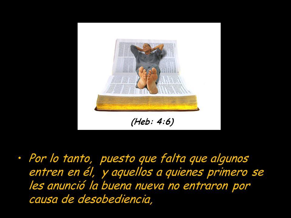 Porque en cierto lugar dijo así del séptimo día: Y reposó Dios de todas sus obras en el séptimo día. Heb 4:5 Y otra vez aquí: No entrarán en mi reposo