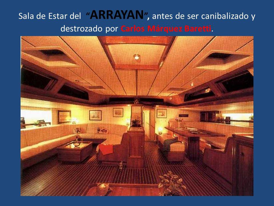 Sala de Estar del ARRAYAN, antes de ser canibalizado y destrozado por Carlos Márquez Baretti.